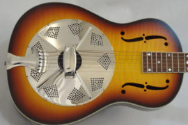 National Estralita Resonator guitar front body view