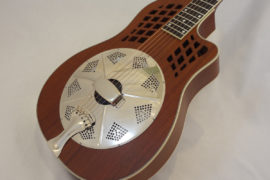 National Resonator Wood Body ResoRocket Guitar Angled View