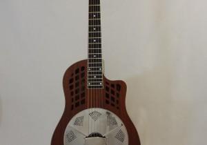 National Resonator Wood Body ResoRocket Guitar Front Full View