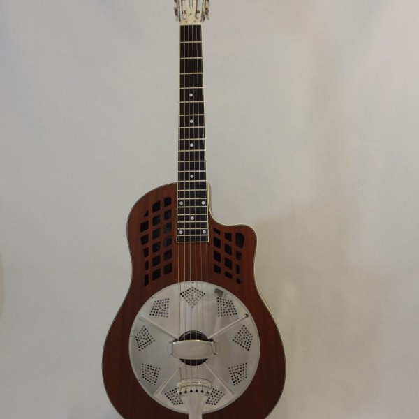 National Resonator Wood Body ResoRocket Guitar Front Full View