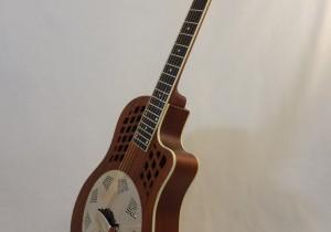 National Resonator Wood Body ResoRocket Guitar Front Angled View 2