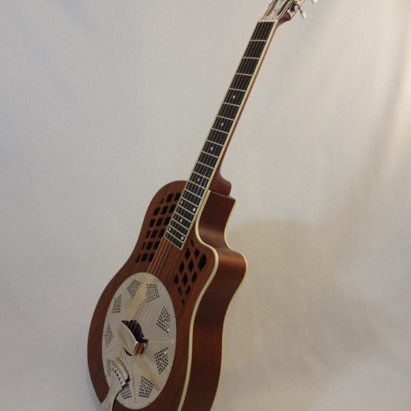 National Resonator Wood Body ResoRocket Guitar Front Angled View 2