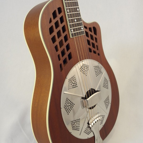National Resonator Wood Body ResoRocket Guitar Cone View