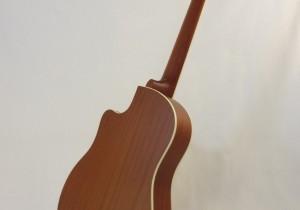 National Resonator Wood Body ResoRocket Guitar Full Back Angled View