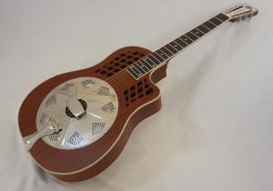 National Resonator Wood Body ResoRocket Guitar Front Angled View