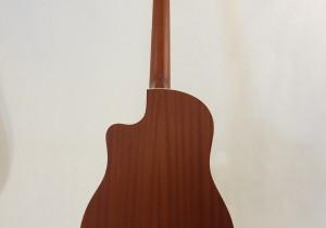 National Resonator Wood Body ResoRocket Guitar Full Back View