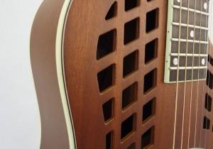 National Resonator Wood Body ResoRocket Guitar Front Detail
