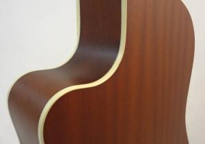 National Resonator Wood Body ResoRocket Guitar Back Detail View