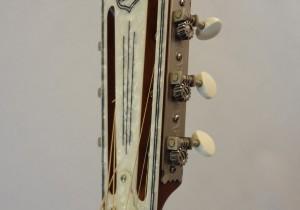 National Resonator Wood Body ResoRocket Guitar Headstock