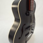 Godin Kingpin 5th Avenue Black Archtop Guitar Side View