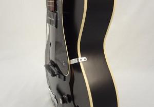 Godin Kingpin 5th Avenue Black Archtop Guitar Side View 2