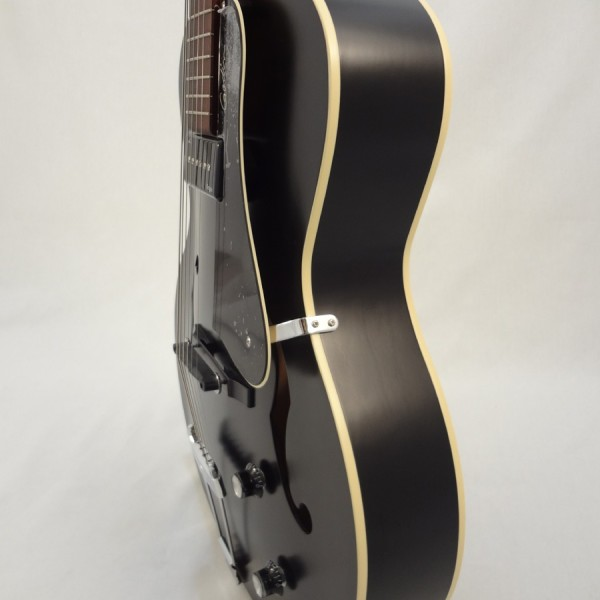 Godin Kingpin 5th Avenue Black Archtop Guitar Side View 2