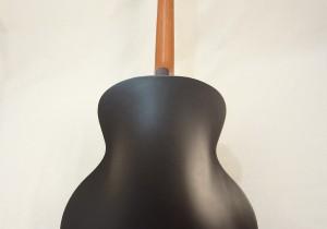 Godin Kingpin 5th Avenue Black Archtop Guitar Full Back View