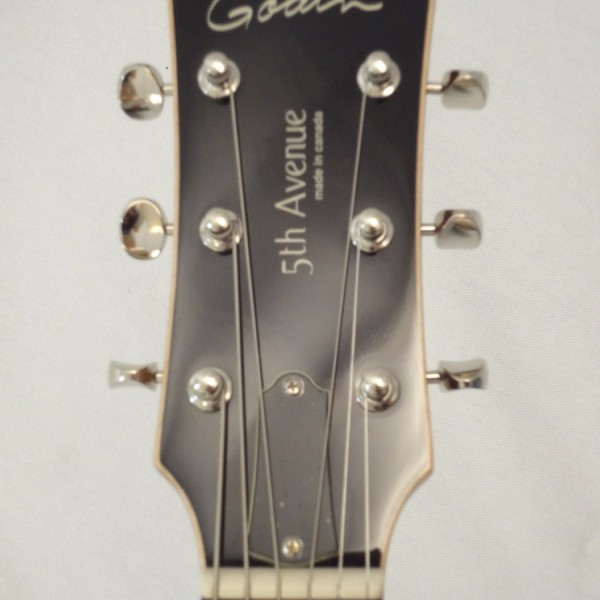 Godin Kingpin 5th Avenue Black Archtop Guitar Headstock