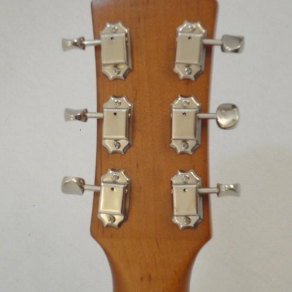 Godin Kingpin 5th Avenue Black Archtop Guitar Headstock Back