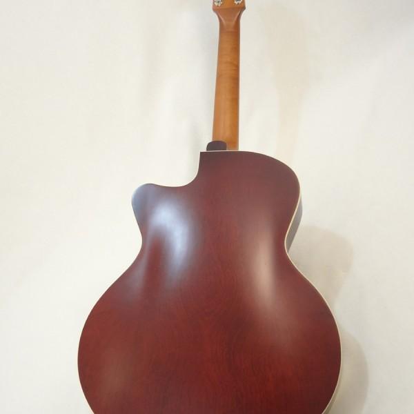 Godin 5th Avenue Kingpin II Burgundy Archtop Guitar full back view
