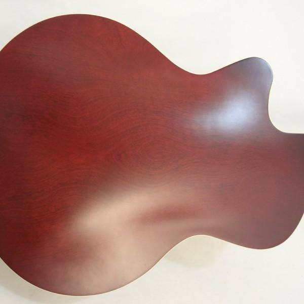 Godin 5th Avenue Kingpin II Burgundy Archtop Guitar back view