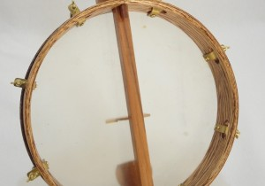 Eric Prust Minstrel Banjo Pot Back View