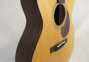 C.F. Martin OM-21 Acoustic Guitar Angled Side View 2