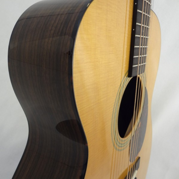 C.F. Martin OM-21 Acoustic Guitar Detail Side VIew