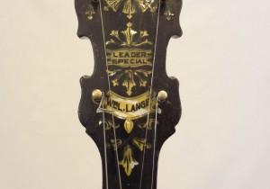 Paramount Vintage Banjo 1927 Headstock Front View