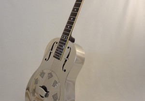 Used National Resonator Single Cone Guitar Style N German Silver Full Front Angled VIew 2