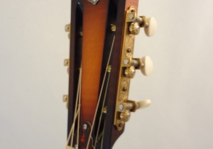 Used National Resonator Single Cone Guitar Style N German Silver Headstock View
