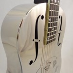 Used National Resonator Single Cone Guitar Style N German Silver F-hole view
