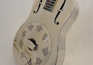 Used National Resonator Single Cone Guitar Style N German Silver Front Angled View 3