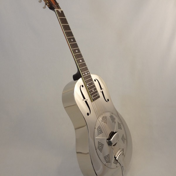 Used National Resonator Single Cone Guitar Style N German Silver Full Front Angled View
