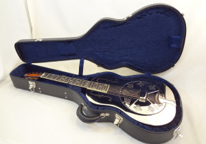 Used National Resonator Single Cone Guitar Style N German Silver Case View