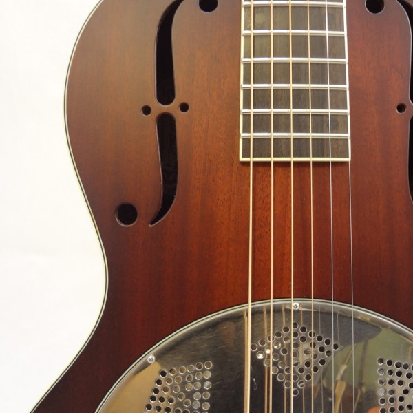 National Resonator El Trovador Guitar Soundhole View