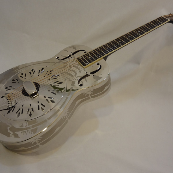 National Resonator Style O 14-Fret Full Front Angled View