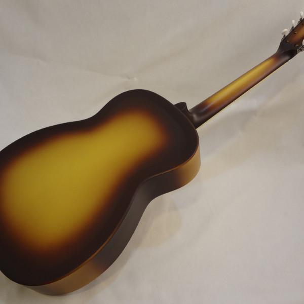 National Resonator Triolian 14 Fret Guitar Back Angled View