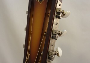 National Resonator Triolian 14 Fret Headstock View