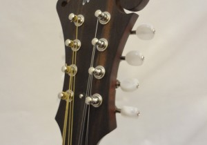 Weber Gallatin Wide Nut F-Style Mandolin Headstock