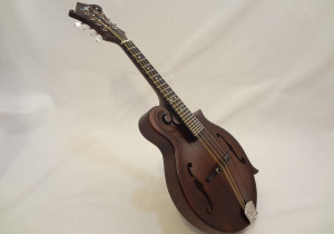 Weber Gallatin Wide Nut F-Style Mandolin Full Front Angled View