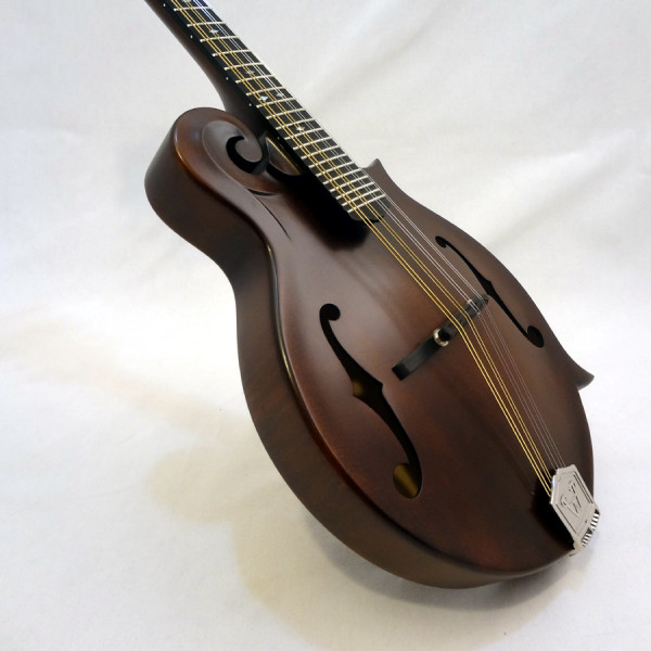 Weber Gallatin Wide Nut F-Style Mandolin Angled Front View