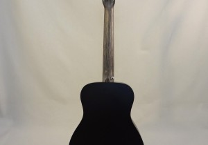 C.F. Martin Left-Handed Acoutic Guitar LX BLACK Back Full View