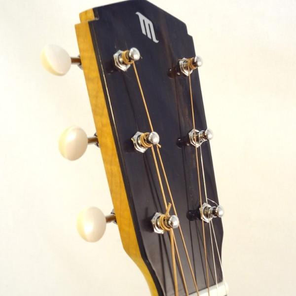 John Morton Parlor Resonator Guitar C-1786 Nickel-Plated Brass Headstock