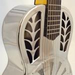 John Morton Parlor Resonator Guitar C-1786 Nickel-Plated Brass Soundhole View