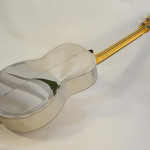 John Morton Parlor Resonator Guitar C-1786 Nickel-Plated Brass Back Angled Full View