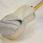 John Morton Parlor Resonator Guitar C-1786 Nickel-Plated Brass Back Angled View