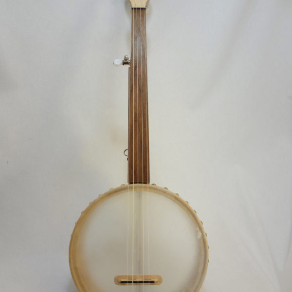 Custom Fretless Short Scale Tackhead Banjo Full Front View