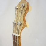 Jere Canote Banjolele Spalted Maple C-1992 Headstock