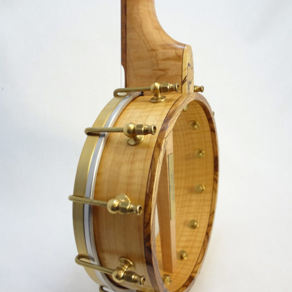 Jere Canote Banjolele Spalted Maple C-1992 Side View