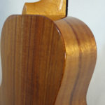 Kanile'a Tenor All Solid Koa Gloss Ukulele Close up Back View