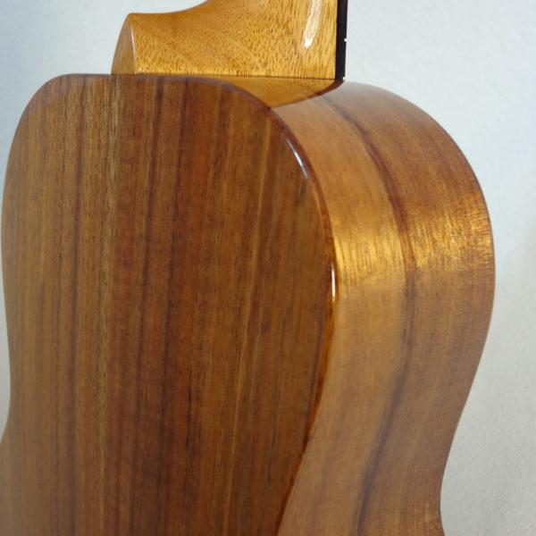 Kanile'a Tenor All Solid Koa Gloss Ukulele Close up Back View