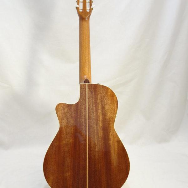 La Patrie Concert Cutaway with Pickup Nylon Classical Guitar Full Back