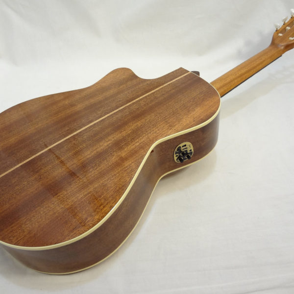 La Patrie Concert Cutaway with Pickup Nylon Classical Guitar Angled Full Back